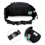 PELLOR Tactical Nylon Waist Pack Chest Bag Fanny Pack Waterproof Unisex Satchel for Outdoor Camping Mountaineering Hiking Cycling