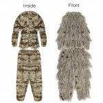 PELLOR Adult Broken Filament Camouflage Clothing Outdoor Jungle Woodland Hunting Ghillie Suit Bird Watching CS Camouflage Suit Free Size