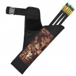 PELLOR Outdoor Lightweight Hunting Camo Quiver Adjustable Waist Hanging Archery Arrows Case