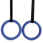 Pellor Olympic Gymnastic Rings For Upper Body Strength And Bodyweight Excercising Suspension Training(Blue)