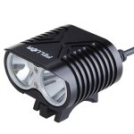 Pellor 4000 Lumens 2 CREE XM-L2 LED Bicycle Light With Spotlight And Astigmatism Function