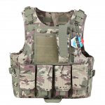 PELLOR Hunting Tactical Molle Tactical Assault Plate Carrier Vest With Customizable Modular Pouches