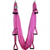 Pellor Yoga Fitness Inversion Swing Aerial Pilates Flying Yoga Hammock Max 200KG (Pink)