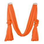 Pellor Deluxe Flying Yoga Hammock For Aerial Yoga Hammock, Orange