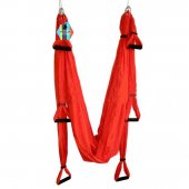 PELLOR Deluxe Air Flying Yoga Hammock Aerial Yoga Hammock Fitness Swing Hammock with 440lb Load Bearing
