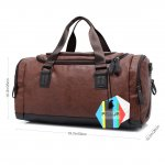 PELLOR Large Capacity PU Leather Travel Bag Tote Handbag Gym Sports Shoulder Bag Carry Case