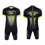 PELLOR Mens Cycling Jerseys Quick Dry Slim Fit Breathable Short Sleeve Jacket Shorts Cycling Suit