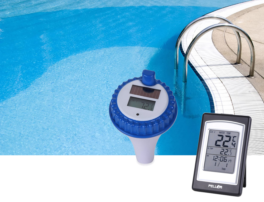 PELLOR Wireless Indoor Disply Digital Swimming Pool ...