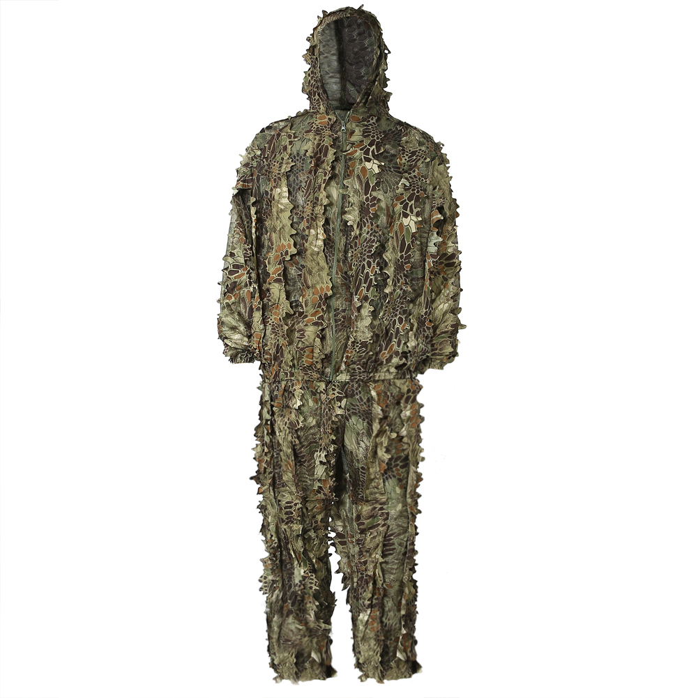 b8ee1e283854c PELLOR 3D Camouflage Hooded Clothing Ghillie Suit Camouflage Camo Jacket  Suit for Outdoor Hunting Bird Watching