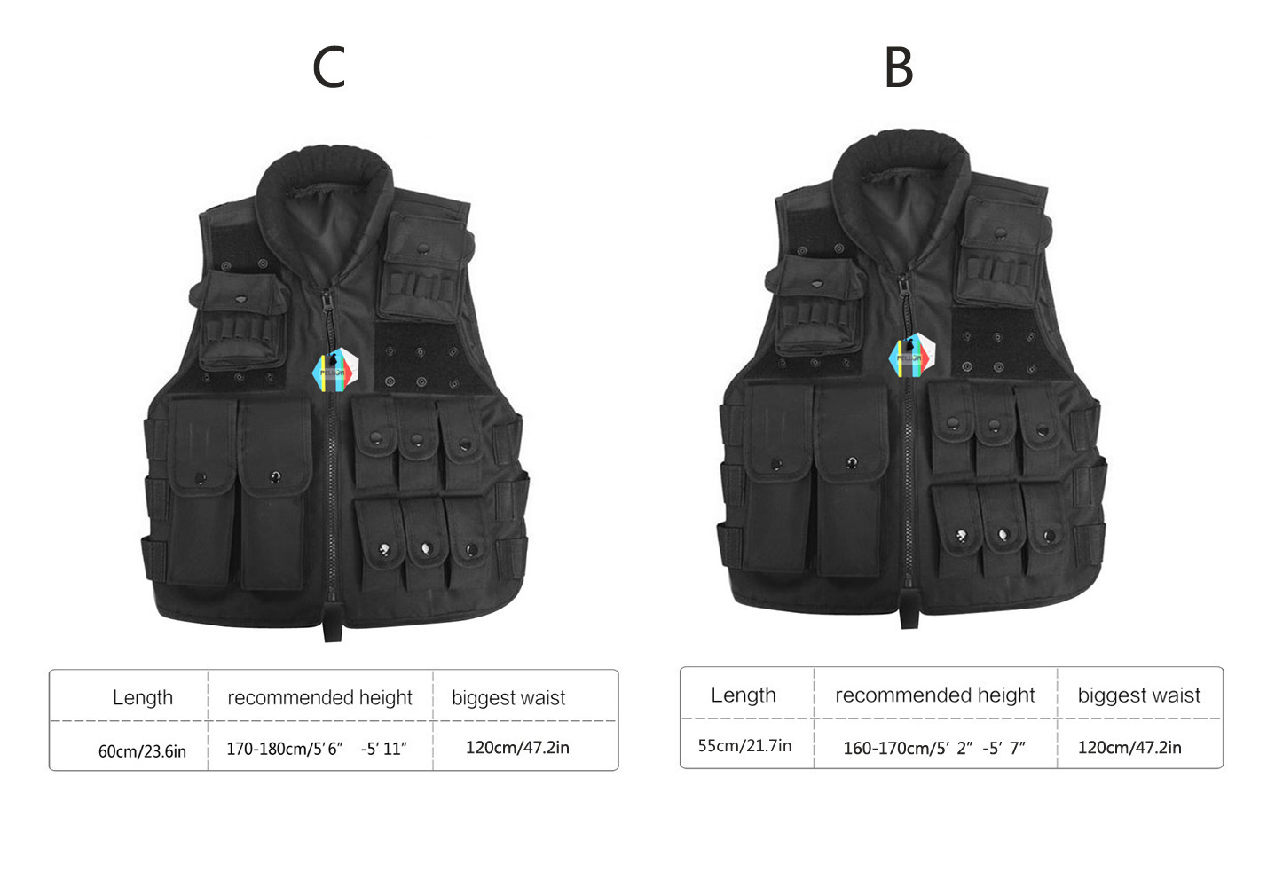 PELLOR Outdoor Tactical Nylon Vest Security Guard Adult Waistcoat CS Field Combat Training Protective Vest