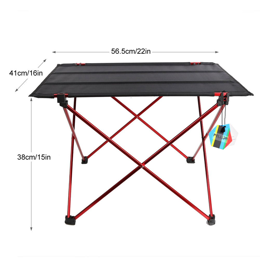 PELLOR Outdoor Ultralight Portable Folding Desk Aluminum Alloy Table Holder for Camping Fishing Picnic