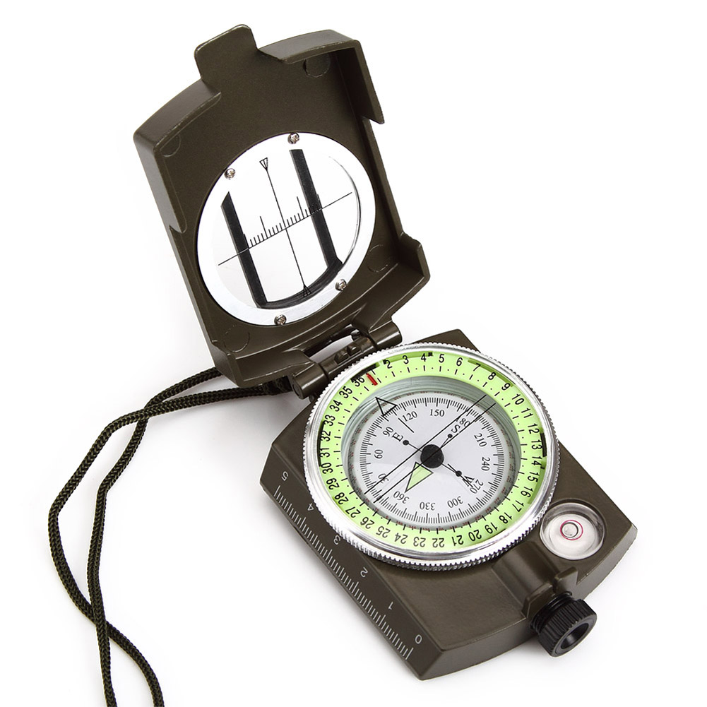 Pellor Professional Pocket Military Geology Compass With Neck Strap and Pouch