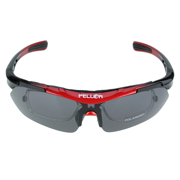 Pellor Cycling Wrap Running Outdoor Sports Sunglasses Exchangeable 5 Lenses Unbreakable Polarized UV400