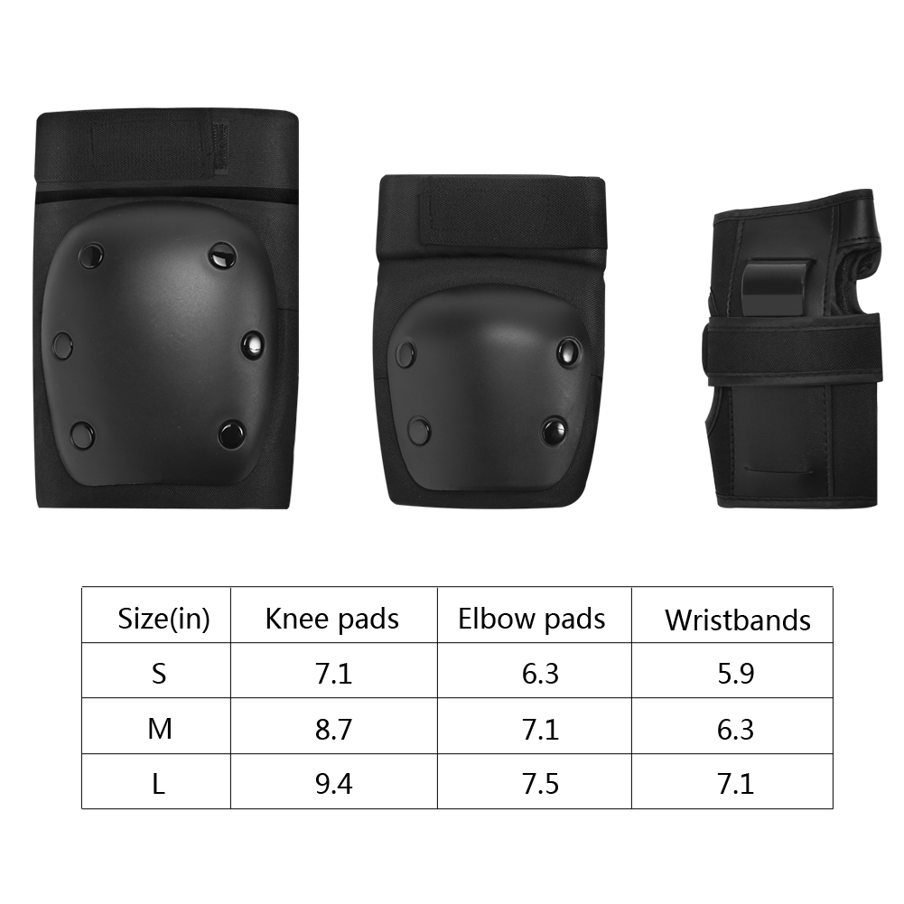 PELLOR Children Adult Outdoor Sports Protective Gear Armguard Wrister Knee Elbow Pads Set of 6PCS for Balance Car Toy Car Skating