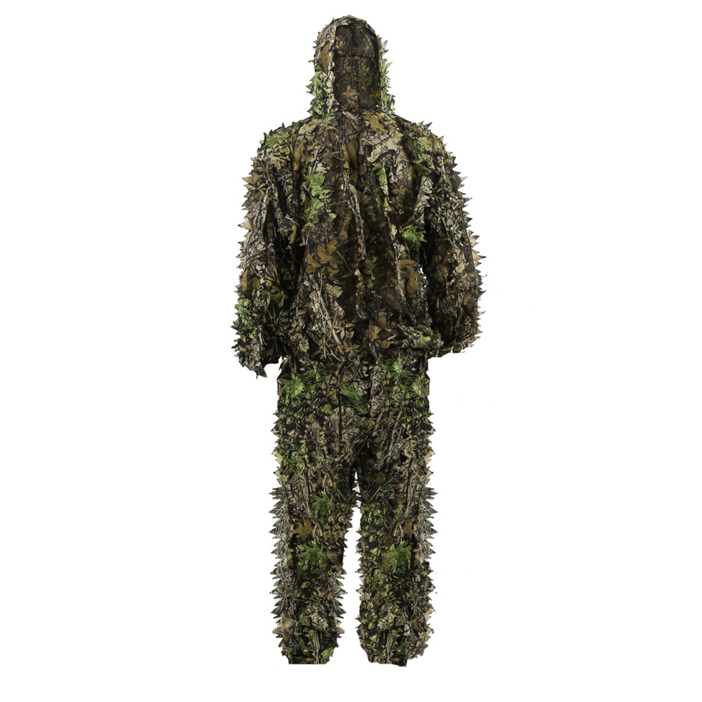 PELLOR Children 3D Leafy Leaves Camouflage Clothing Outdoor Jungle Woodland Hunting Camo Ghillie Suit