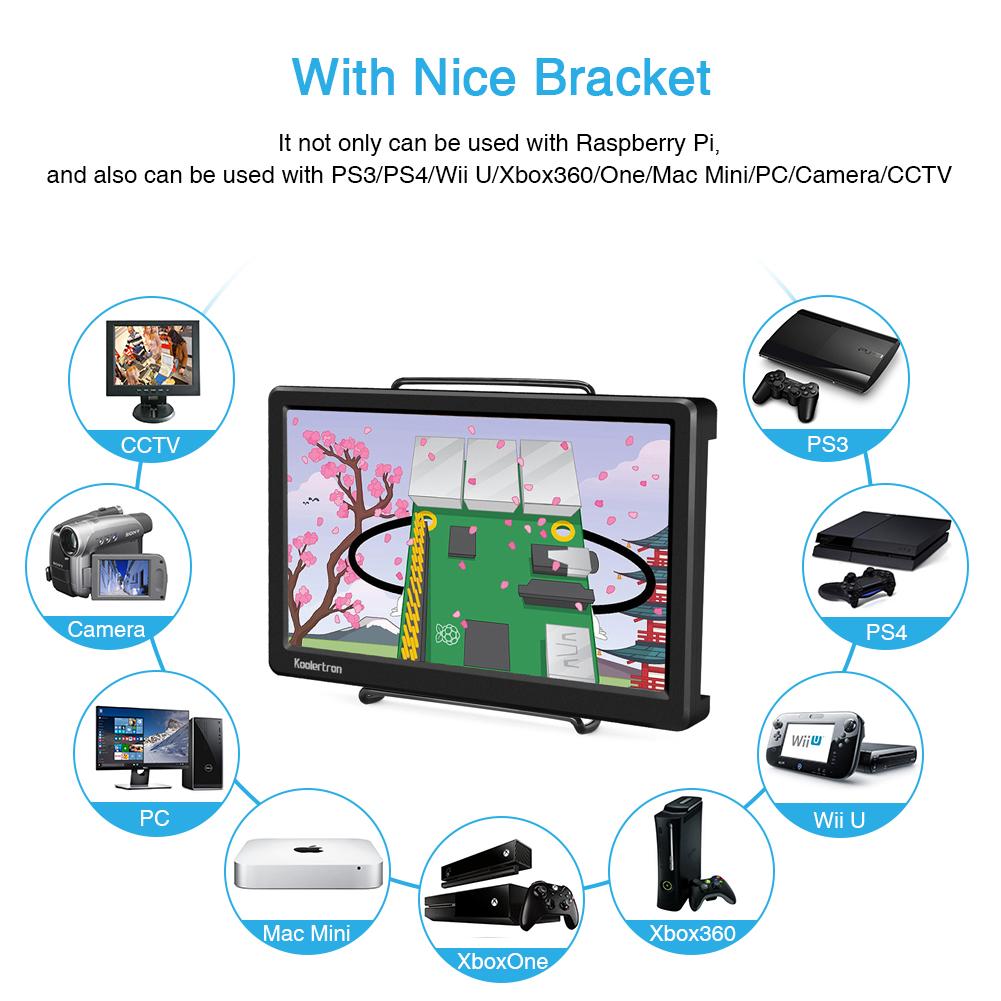 Raspberry Pi 1920x1080 10 1 FHD IPS Monitor Ultrathin Display HDMI