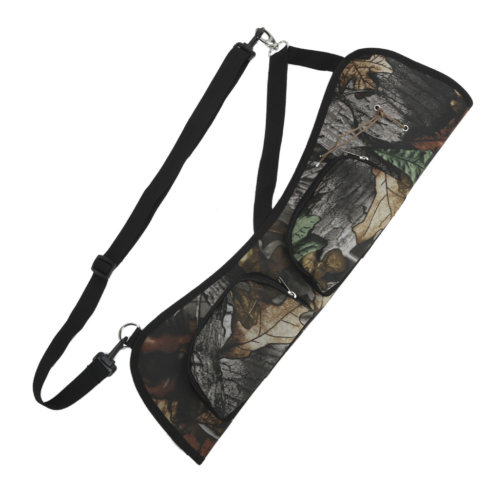 PELLOR Outdoor Hunting Archery Arrows Case Adjustable Shoulder Strap Canvas Quiver Back Carry Waist Carry Arrow Carrier Holder