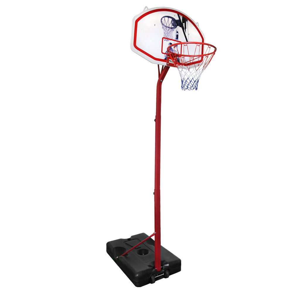 PELLOR Removable Basketball Stand Backboard Basketball Hoop with 6.9-8.5ft Adjustable Height for Teenagers Youngsters