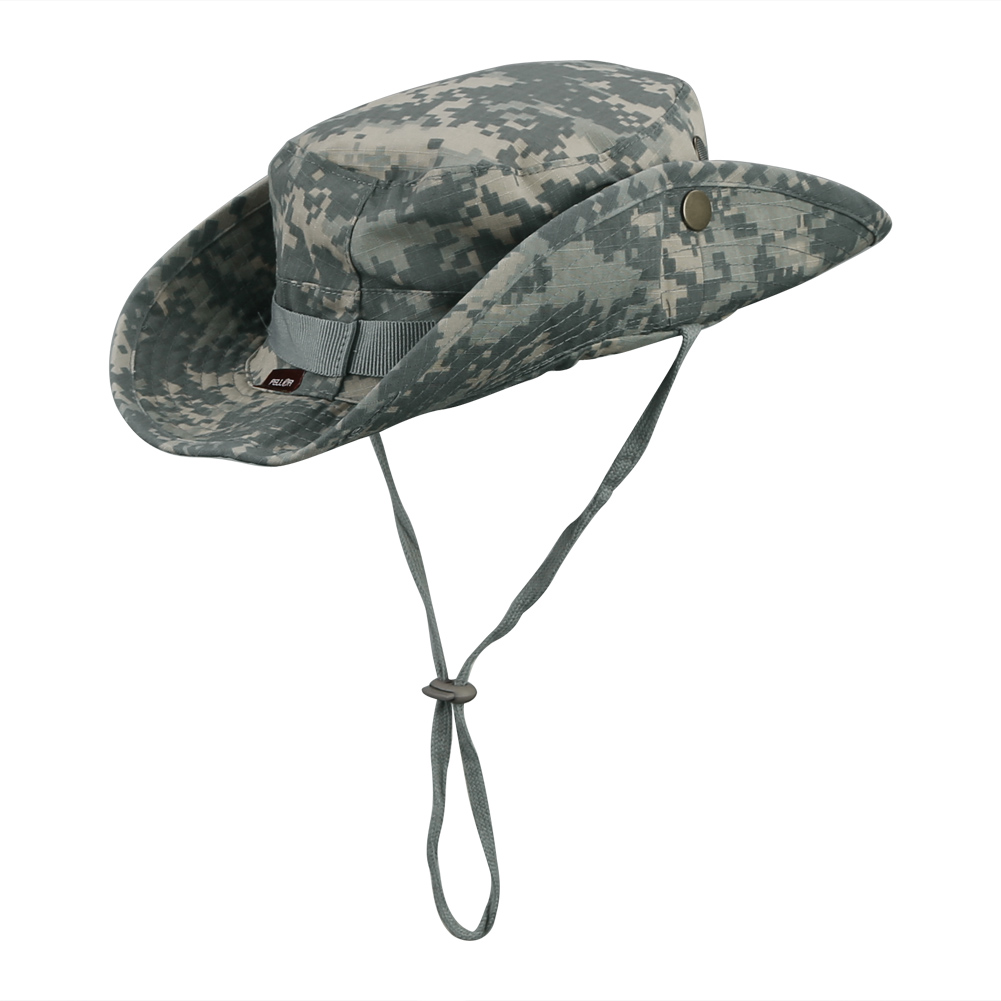 07c443c86a1cf PELLOR Boonie Bucket Hat Military Fishing Camping Hunting Wide Brim Bucket  Men Outdoor Cap