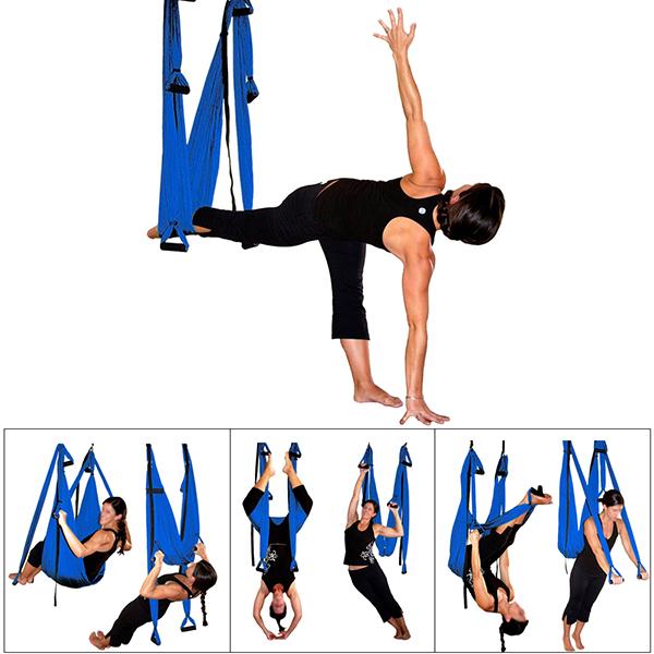 pellor yoga fitness inversion swing aerial pilates flying yoga hammock max 200kg  dark blue    pellor   pellor yoga fitness inversion swing aerial pilates flying yoga      rh   pellor