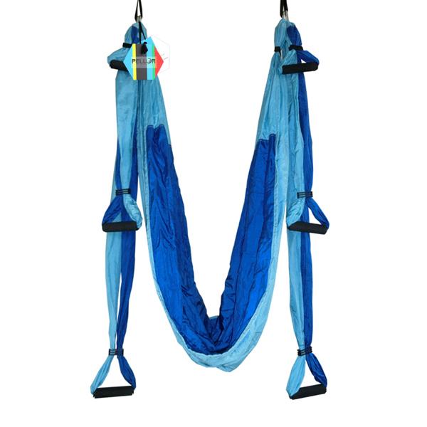 pellor large bearing deluxe dichromaticyoga swing aerial hammock dark blue  u0026 blue pellor large bearing deluxe dichromaticyoga swing aerial hammock      rh   pellor